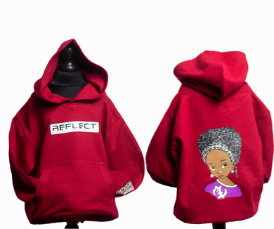 REFLECT Thick Hoodie Girls [RED HOT CHILLI]