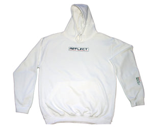 REFLECT WHITE Thick Hoodie [Adult/Teen]