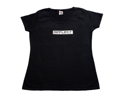 REFLECT Women's Fitted T-Shirt [BLACK]