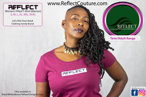 REFLECT Women's Fitted T-Shirt [MAROON]