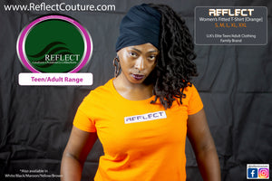 REFLECT Women's Fitted T-Shirt [ORANGE]