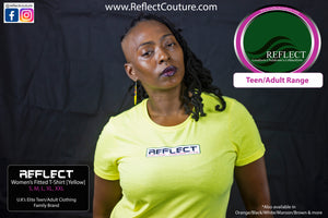 REFLECT Women's Fitted T-Shirt [YELLOW]