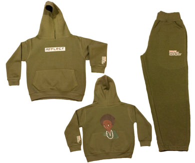 REFLECT Thick Boys KHAKI Jogsuit [LIMITED EDITION]