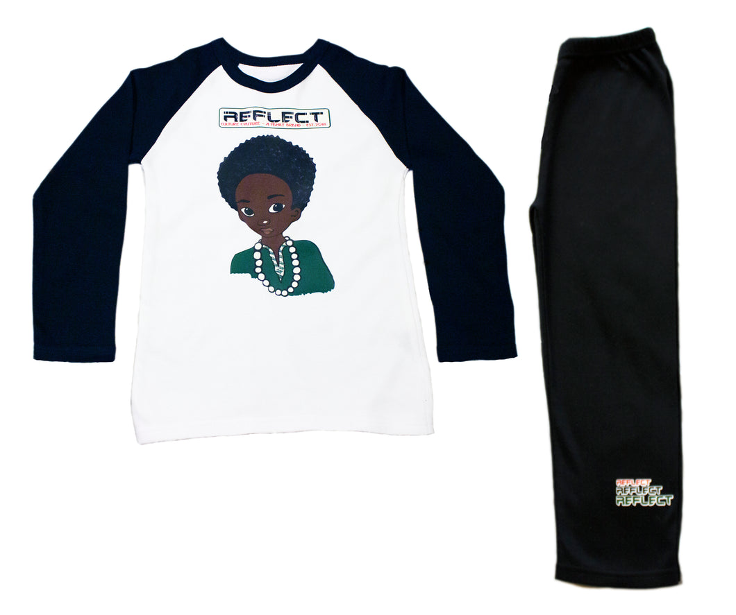 REFLECT Pyjama Set Boys BLACK & WHITE [LIMITED EDITION]