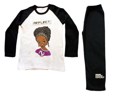 REFLECT Pyjama Set Girls BLACK & WHITE [LIMITED EDITION]