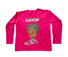 Load image into Gallery viewer, REFLECT Premium Girls CERISE Long Sleeve T-Shirt