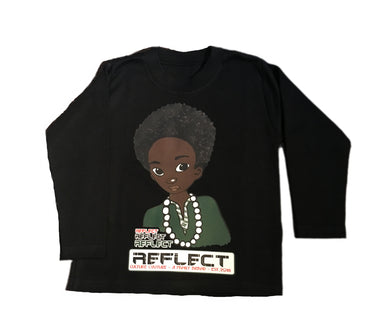 REFLECT Premium Boys BLACK Long-Sleeve T-Shirt
