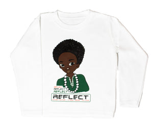 REFLECT Premium Boys WHITE Long-Sleeve T-Shirt