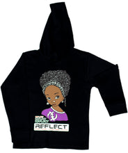 Load image into Gallery viewer, REFLECT Premium Girls BLACK Hoodie