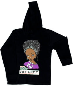REFLECT Premium Girls BLACK Hoodie