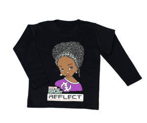 REFLECT Premium Girls BLACK Long-Sleeve T-Shirt