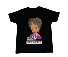 Load image into Gallery viewer, REFLECT Premium Girls BLACK Short-Sleeve T-Shirt