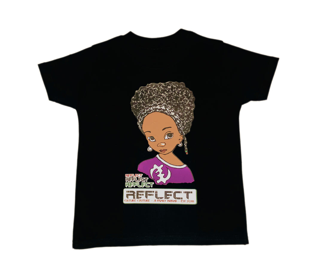 REFLECT Premium Girls BLACK Short-Sleeve T-Shirt