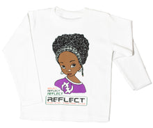 Load image into Gallery viewer, REFLECT Premium Girls WHITE Long-Sleeve T-Shirt