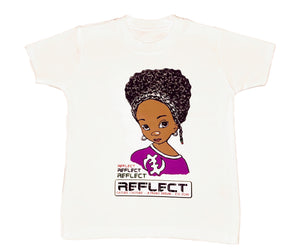 REFLECT Premium Girls WHITE Short-Sleeve T-Shirt
