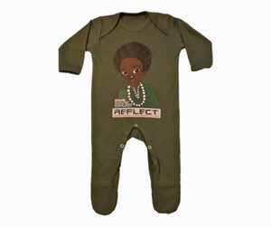 REFLECT Premium Boys KHAKI Rompersuit