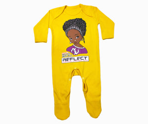 REFLECT Premium Girls SUNFLOWER YELLOW Rompersuit