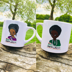 REFLECT Children's Size Mug / Cup (Both Boy & Girl Image on Mug/Cup)