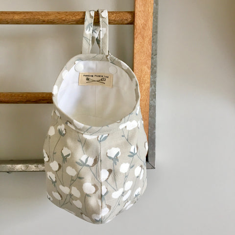 Cotton Blossom Hanging Storage Pods