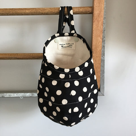 Black Polka Dot Hanging Storage Pods