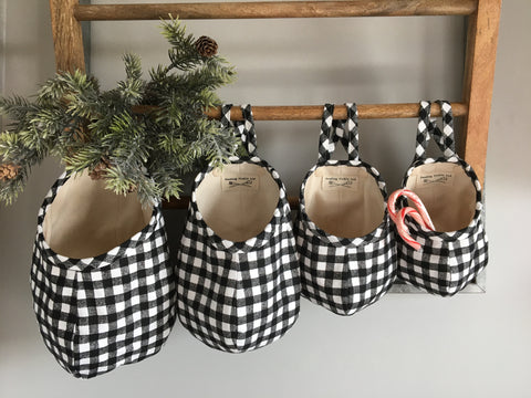 Buffalo Plaid Hanging Storage Pods