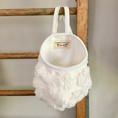 Fluffy Upcycled Hanging Pod