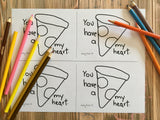 PRINTABLE Pizza Valentine