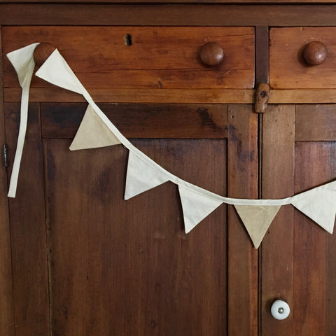 Small Neutral Fabric Bunting Banner