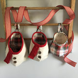 Snowman Christmas Plaid Hanging Storage Pods
