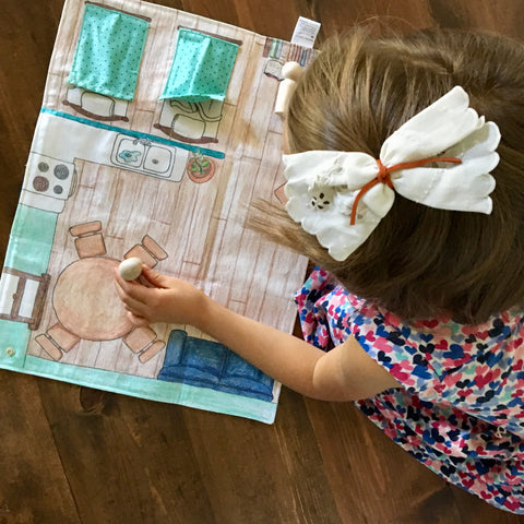 Home Sweet Home Fabric Play Mat