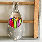 Gray Dot Hanging Storage Pods