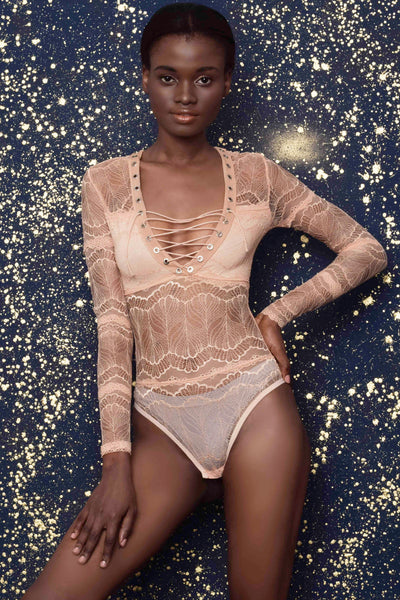 Dakota Peach Bodysuit