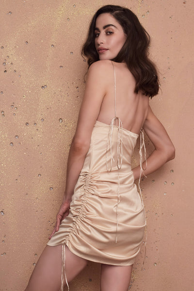 Frederica Gold Dress