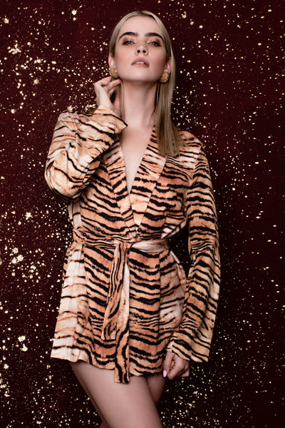 Jungle Tiger Print Jacket