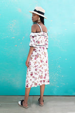 Load image into Gallery viewer, Laura White Floral Dress