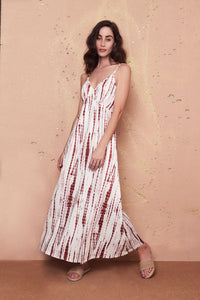 Lena Maroon Maxi Dress