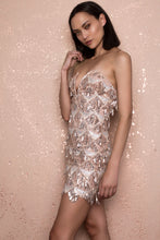 Load image into Gallery viewer, Nobu Sequin Nude Dress