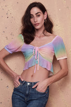 Load image into Gallery viewer, Rainbow Multicolour Crop Top