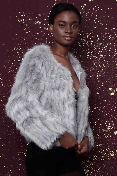 Sansa Light Grey Faux Fur