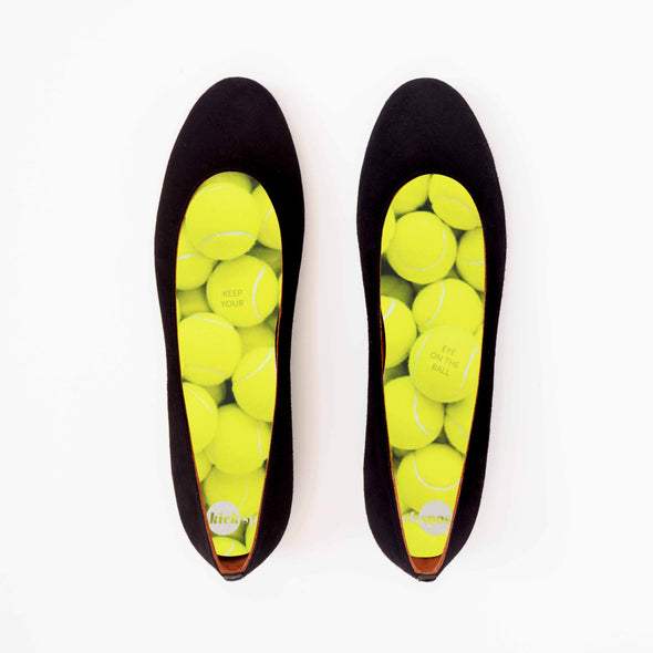 Tennis Shoe Inserts in Black Flats