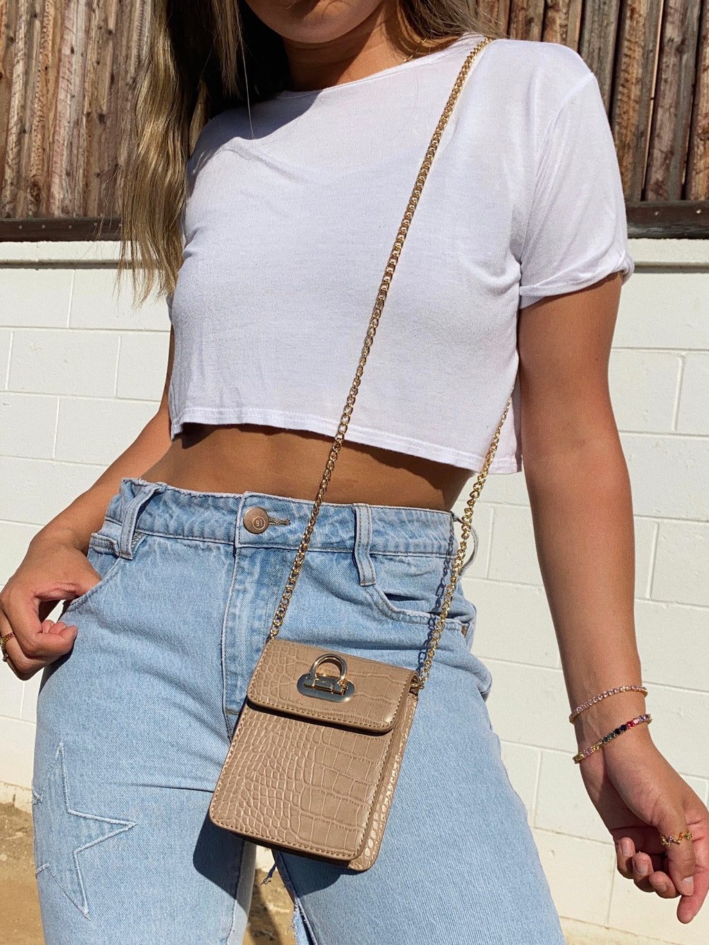 so luxe bag (tan)