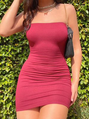 tammy dress (WINE)