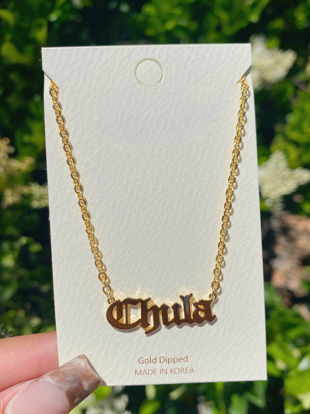 chula necklace (GOLD DIPPED)