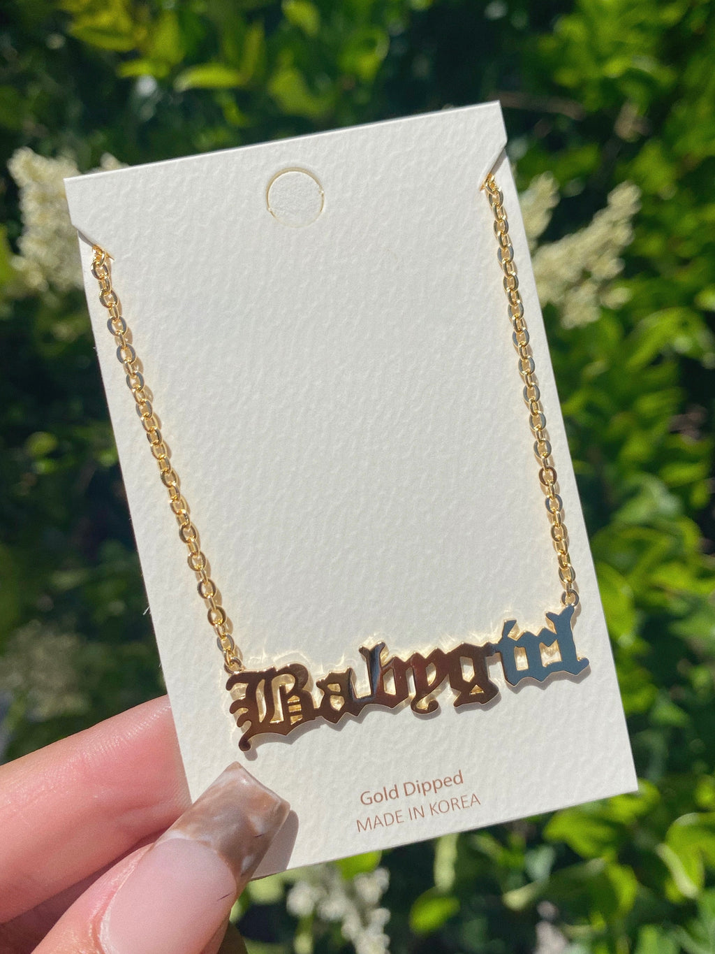 babygirl necklace (GOLD DIPPED)