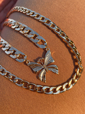 butterfly effect necklace (GOLD)