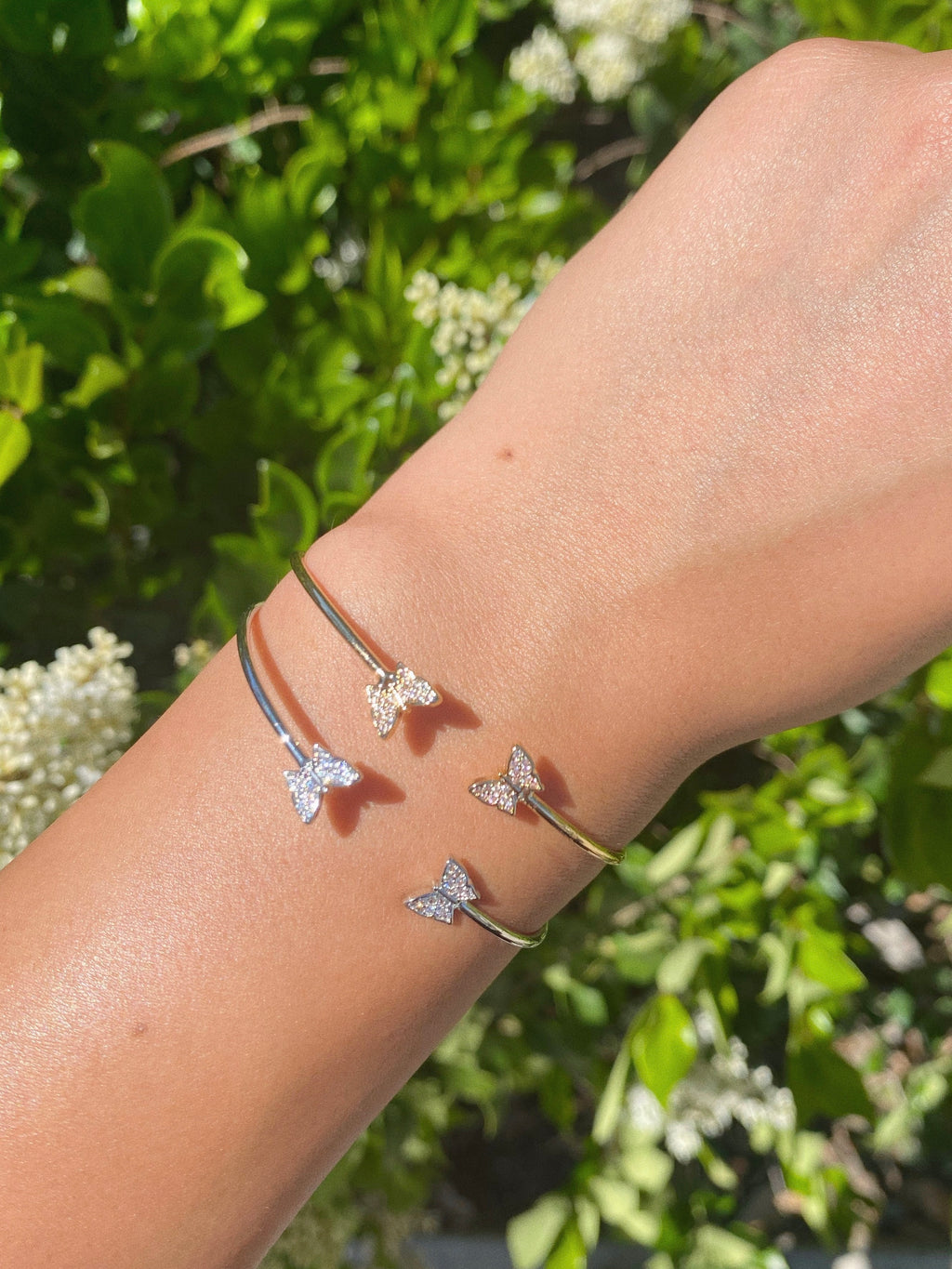 baby butterfly cuff (SILVER)