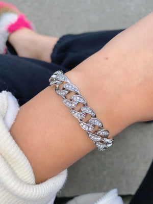 icy girl bracelet (SILVER)