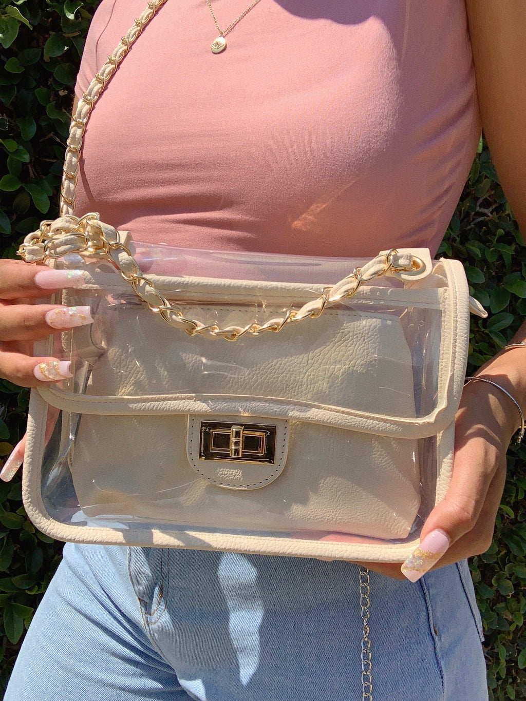 lola clear bag (NUDE)