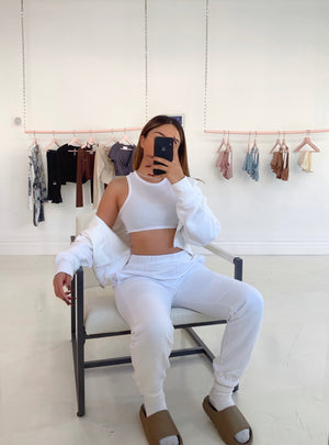 cozy szn jogger set (WHITE)