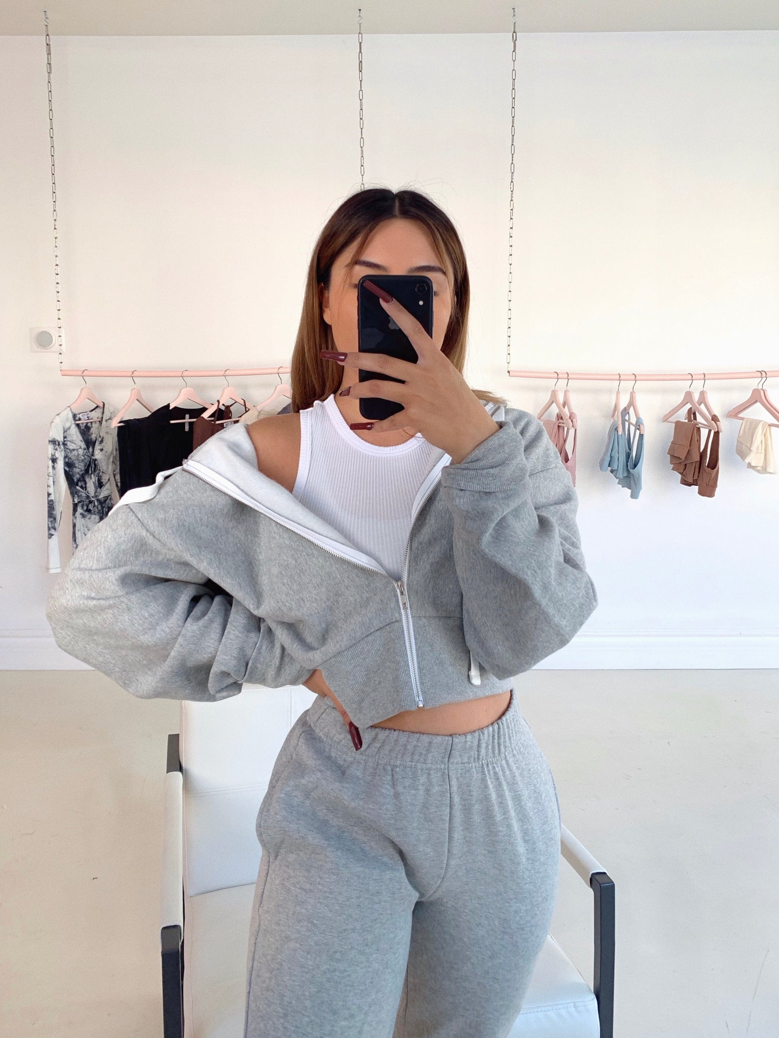 cozy szn jogger set (HEATHER GRAY)
